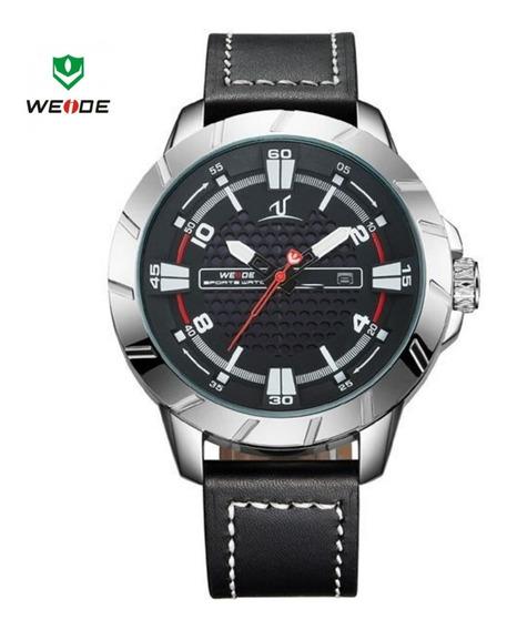Relógio Funcional Original Luxuoso Couro Executivo Promoção