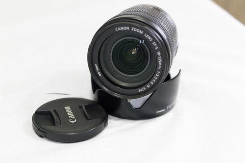 Imagem 1 de 3 de Lente Canon Ef-s 18-135mm Stm Com Parasol