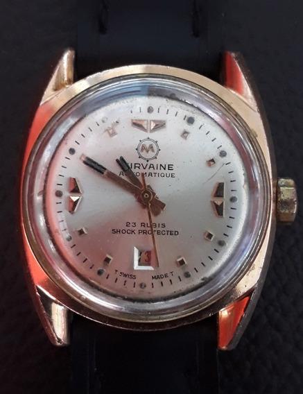 Lindo E Muito Antigo Relógio Automático Mirvaine.
