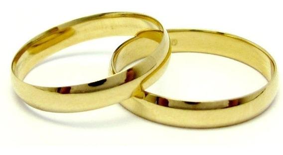 Par Alianças Ouro 18k 750 Clássica Anatômica 4gr Casamento