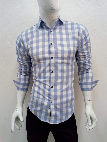 Camisa De Caballero Cuadriculada