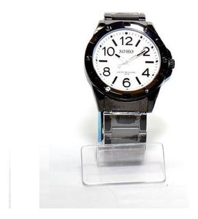 Reloj Analogo Hombre Soho Modelo Ch374 Resistente Al Agua