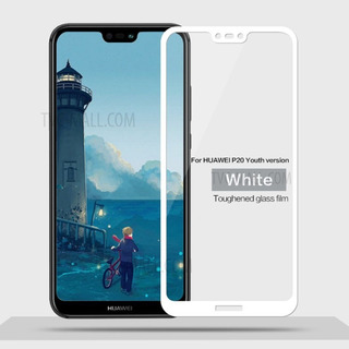 Vidrio Templado 5d Para Huawei P20 Lite Blanco Full Cover