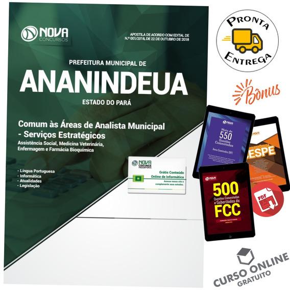 Apostila Ananindeua Pa 2018 - Comum Áreas Analista Municipal