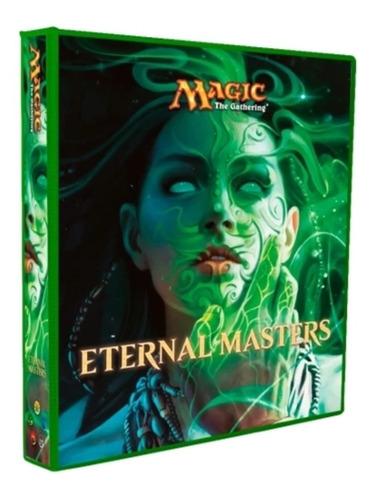 Álbum Magic Fichário Eternal Masters + 10 Folhas 9 Bolsos