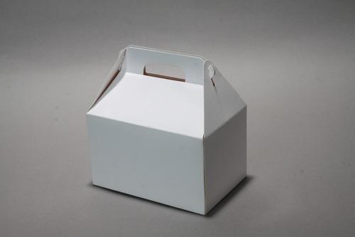 Cajita Feliz Blanca - Cartulina - Maletin (pack X 50)