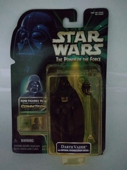Star Wars Boneco Darth Vader Droid Power Of Force Potf 1/18