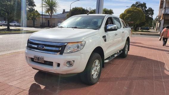 Ford Ranger 3.2 4x4 Xlt Blanco 2014 122.400 Km Roas