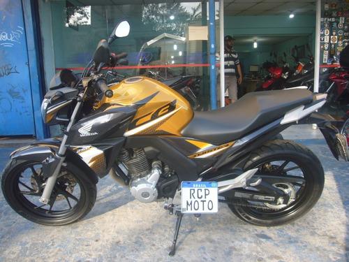Imagem 1 de 9 de Honda Cb 250 Twister 2020 Abs Amarela Nova Baixo Km Troca