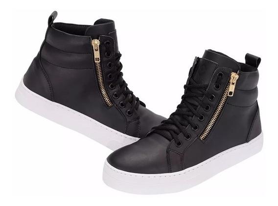 Bota Tênis Pra Fazer Caminhada Sneaker Couro Selten B2