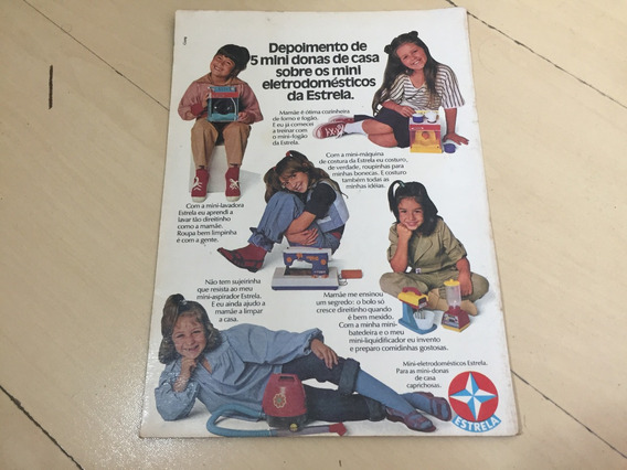 Folheto De Brinquedos Antigos Estrela G505