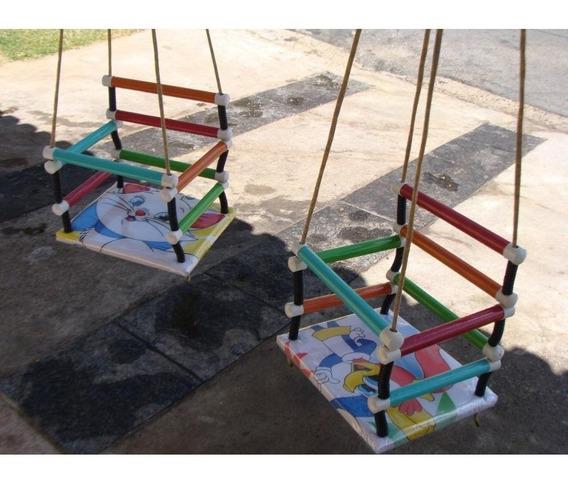 Balanço Infantil Bebê Madeira Almofadado Criança Balança