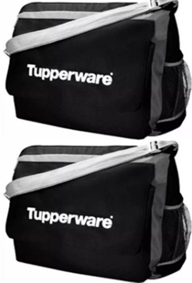 Tupperware Bolsa Nova Consultora Preta E Cinza - 2 Pçs