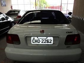 Honda Civic Ex 1996 Branca Gasolina