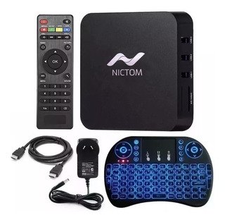 Tv Box Smart Tv Android 7.1 Quad + Mini Teclado Convertidor