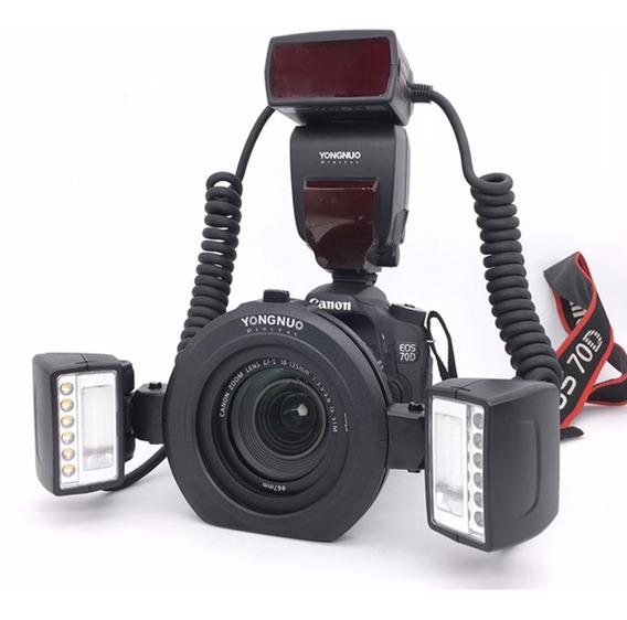 Flash Yongnuo Yn24ex 24ex Twin Macro Para Canon Ttl 4 Anéis