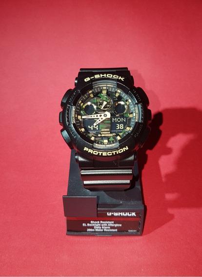 Relógio Casio G-shock Ga-100cf-1a9dr Camuflado - Original