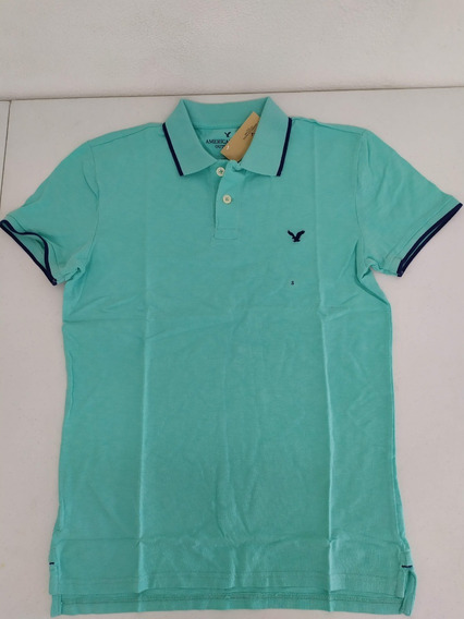Playera Tipo Polo American Eagle Small Slim Fit Hombre