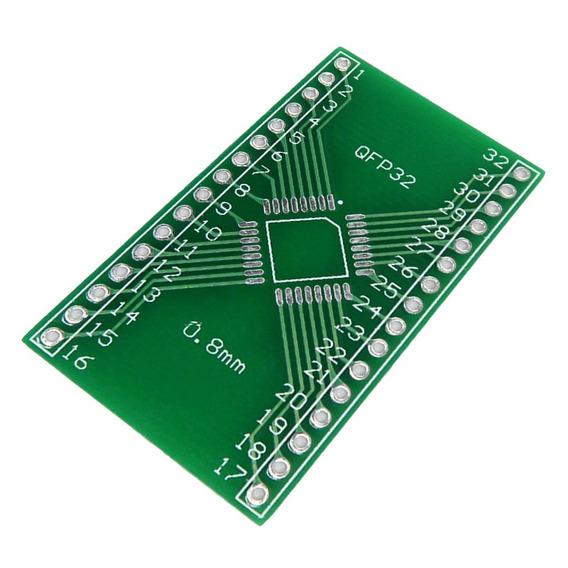 1pc Qfp32 Para Dip 32 Quadro De Smd Adaptador Para Dip 0,8 M