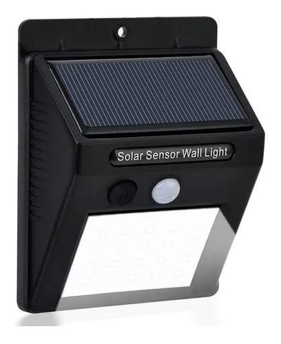 Solar Con Sensor De Movimiento Luz Cálida Ip65 28 Leds