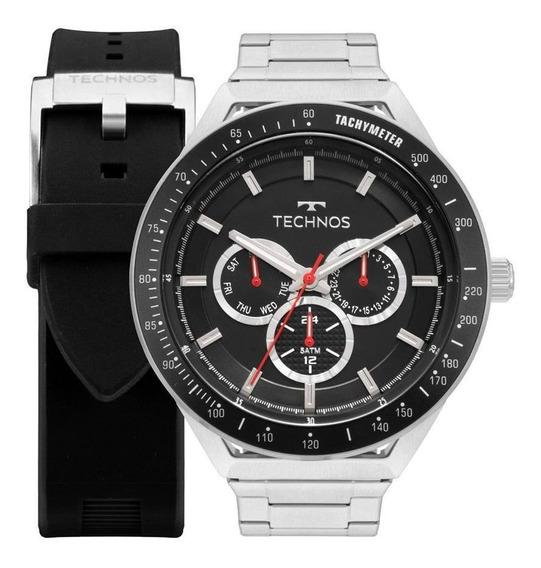 Relógio Technos Masculino Skymaster 6p29ajy - Cor Prata