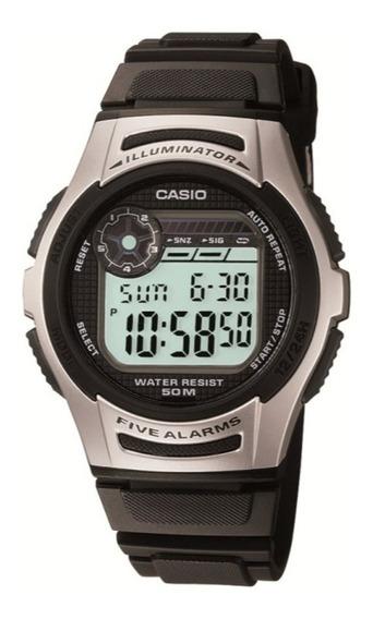 Relógio Casio Illuminator Masculino W-213-1avdf Original