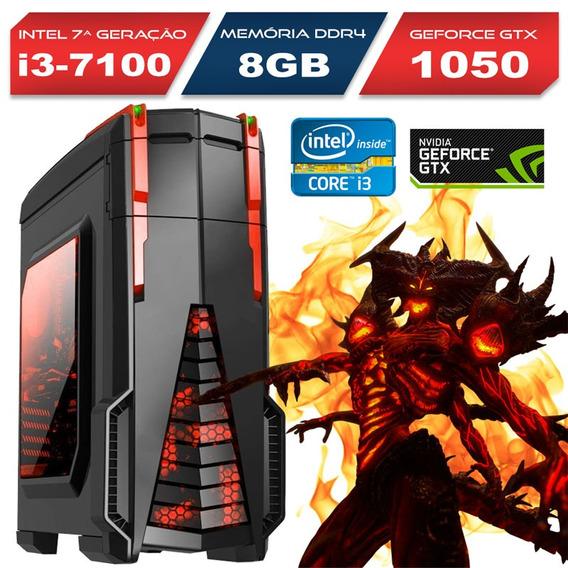 Computador Gamer Intel Core I3 7100 8gb Ram Gtx 1050 1tb