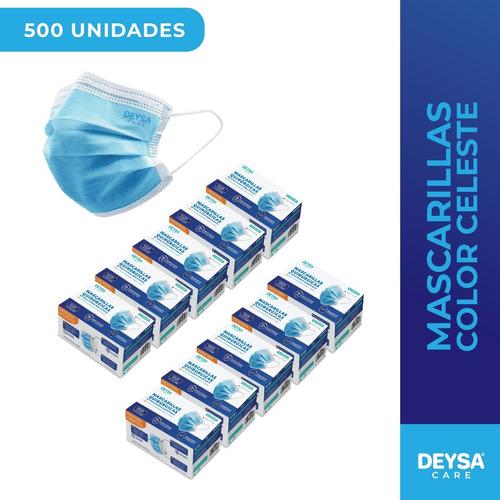 Mascarillas Desechables 50 Un 10 Cajas (500 Un)