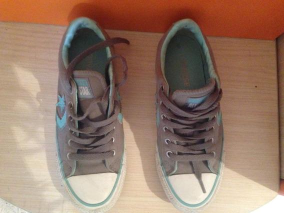 Zapatos Converse Azul Celeste Talla 35/5