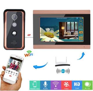 Kit Video Portero Wifi Con Monitor 7 Pulgadas App Celular