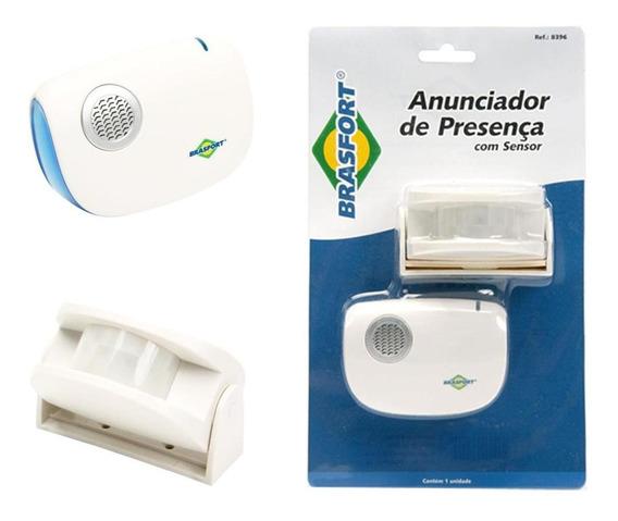 Sensor E Anunciador De Presença Raio De 100 Metros Brasfort