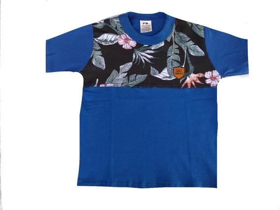 Kit 3 Camiseta Masculino Infantil Juvenil Floraltradicional