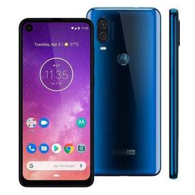 Celular Motorola One Vision 128gb 48+5mp 6.3 Xt1970 Azul
