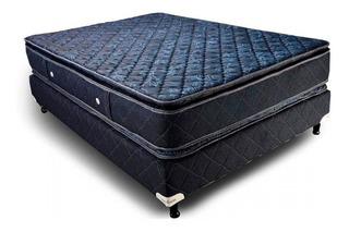 Somier Y Colchon Acuario 140x190x 32 Jackard Pillow