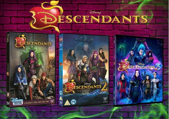 Dvd Descendentes 1, 2 E 3