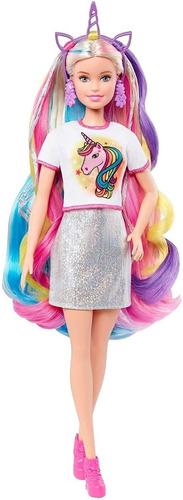 Barbie Fantasy Hair Unicornio Y Sirena - Mattel
