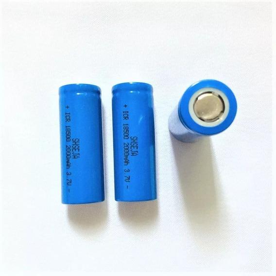 2 Baterias 18500 3,7v 2000mah Li-ion Recarregável