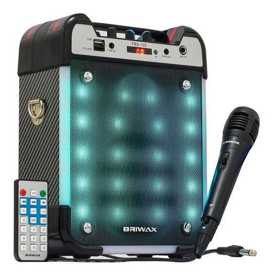 Caixa De Som Sem Fio Bluetooth 25w Entradas P2 Usb Microfone