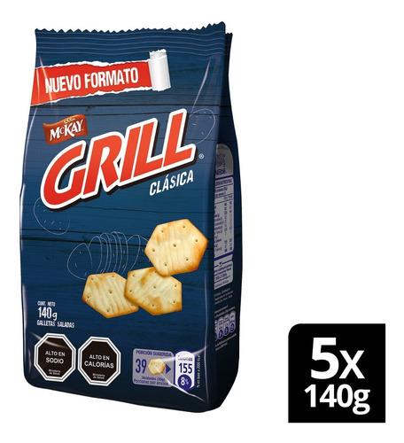 Galleta Grill® Clásica 140g X5 Unidades