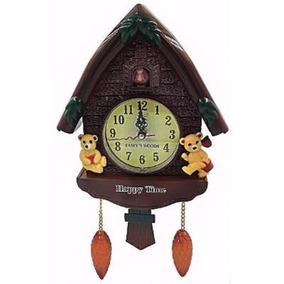 Relógio Cuco Parede Musical Pendulo Estilo Vintage