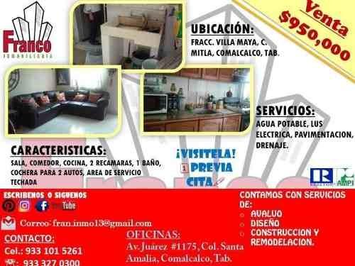 Casa Sola En Venta Fracc Villa Maya