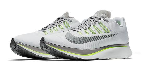 Tenis Nike Zoom Fly Branco Corrida Academia Forma Justa