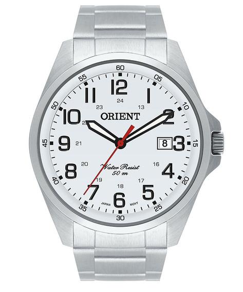 Relógio Orient Masculino Mbss1171 S2sx Clássic Branco Top Nf