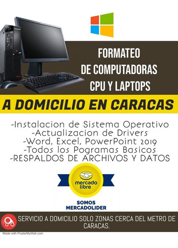 Formateo Pc's Y Laptops A Domicilio