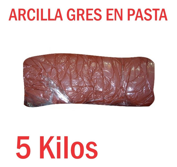 Arcilla Gres En Pasta 5 Kilos