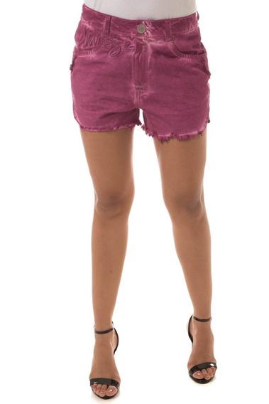 Shorts Jeans Osmoze Boyfriend Fucsia