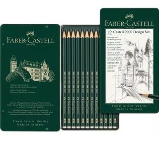 Lapices De Grafito Faber Castell 9000 Set X 12 Lapices