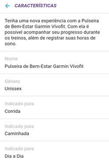 Pulseira Vivofit Garmin