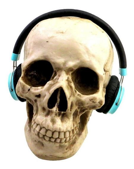 Suporte Headset Fone De Ouvido Cranio Em Resina
