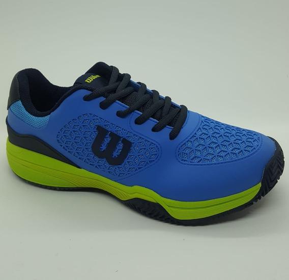 Zapatillas Tenis Wilson Match Hombre Blue/navy (l1m3a)